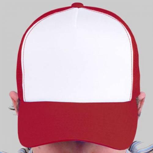 Gorras Trucker Rojo/blanco para pintar