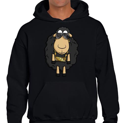 Rebel Sheep - Sudadera con Capucha