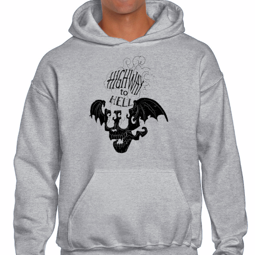 Sudadera capucha - Highway to hell skull