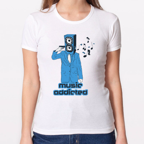 Camiseta chica - Music Addicted