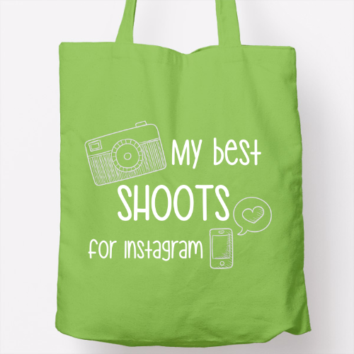 Bolso verde 'my best shoots for instagram'