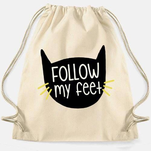 Bolsa blanca 'Follow my feet'